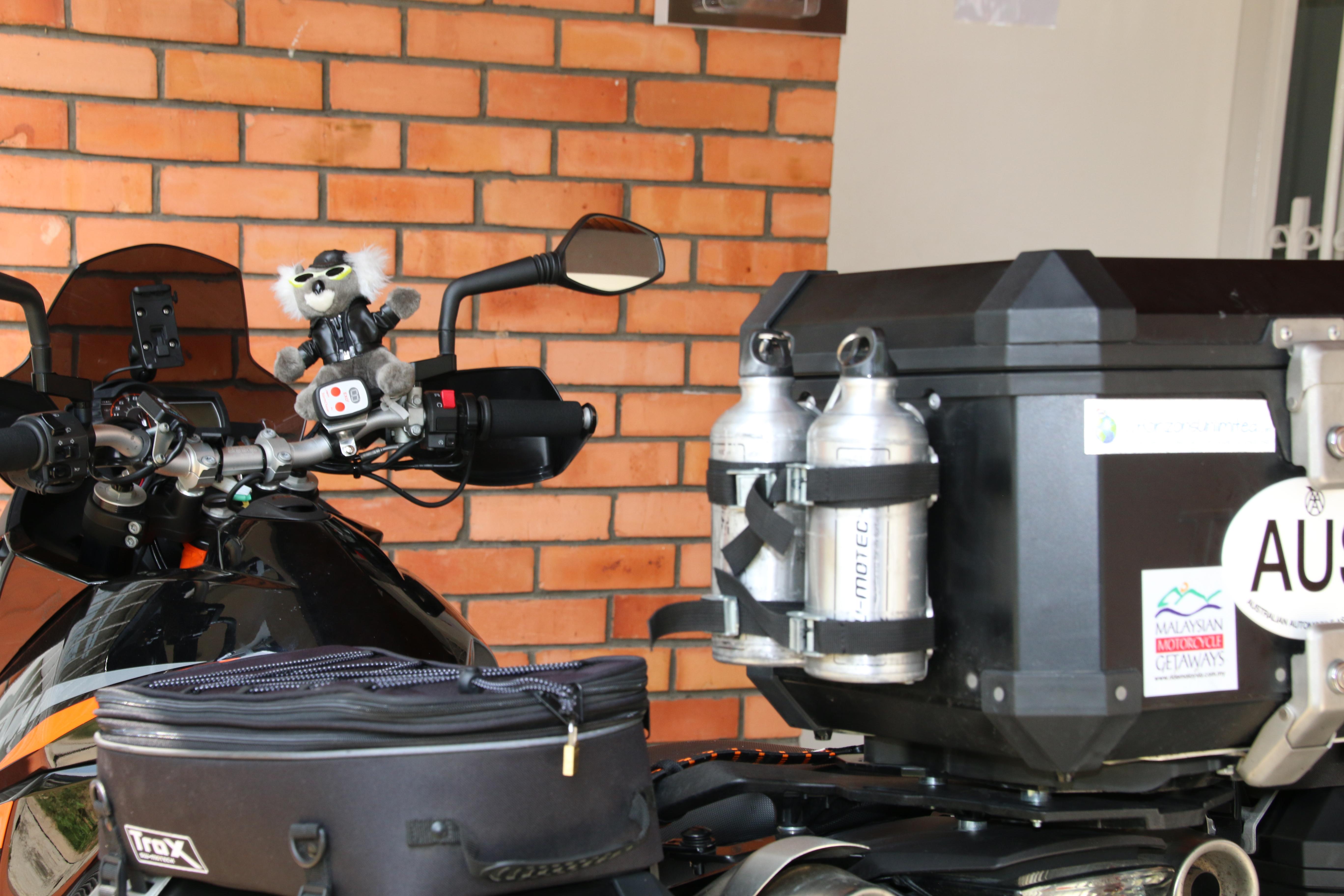 Preparing for KTM ride around the world