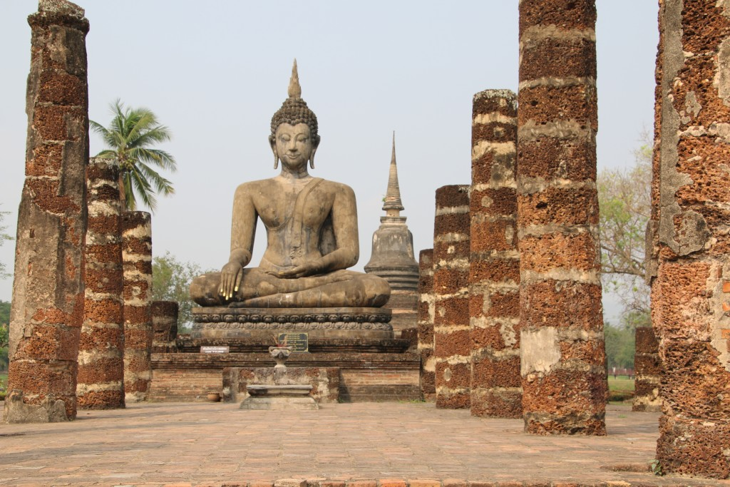 Ancient Buddhist temple in Sukhothai