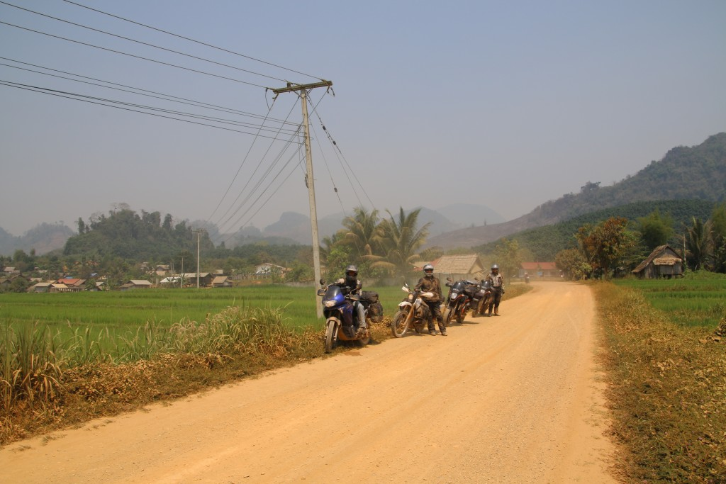 Dusty work in the Laos outback