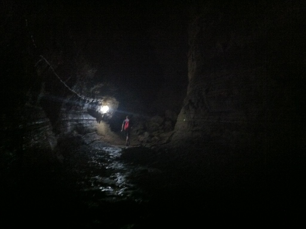 Inside the amazing lava tunnels at Bella Vista, Santa Cruz Island